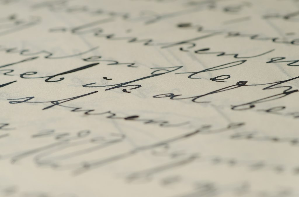 Ouderwets handschrift